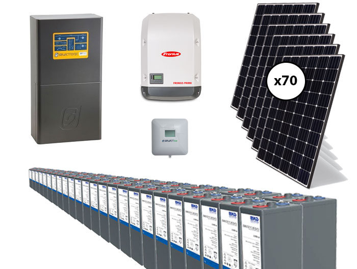 20kW Fronius and Selectronic AC Coupled Off Grid System Package with 80kW GEL Battery Storage