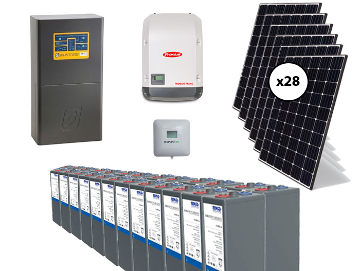 7.7kW Fronius and Selectronic AC Coupled with 40kW GEL Battery Off Grid Package