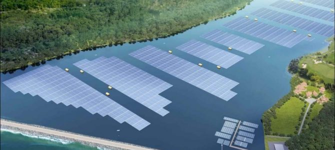 One of world's biggest inland floating solar systems begins construction in Singapore
